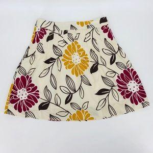 Pretty DownEast Basics knee length floral skirt